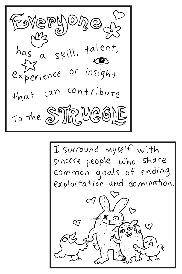 """Print and color a page from """"100 Affirmations for Revolutionaries"""" coloring book! (page 19)"""