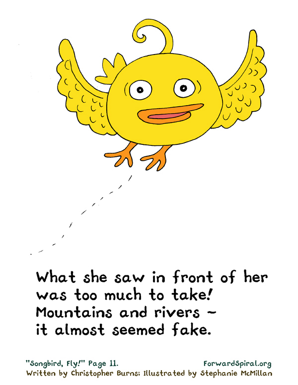 """""""Songbird, Fly!"""" page 11"""