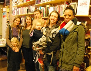 With Theresa, Leslie, Eliza, Nate and Shontae at Burning Books in Buffalo, NY, October 29