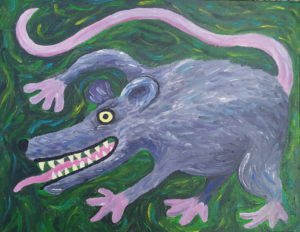 Painting of a wild possum