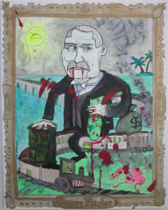 Portrait of Henry Flagler as a Vampire